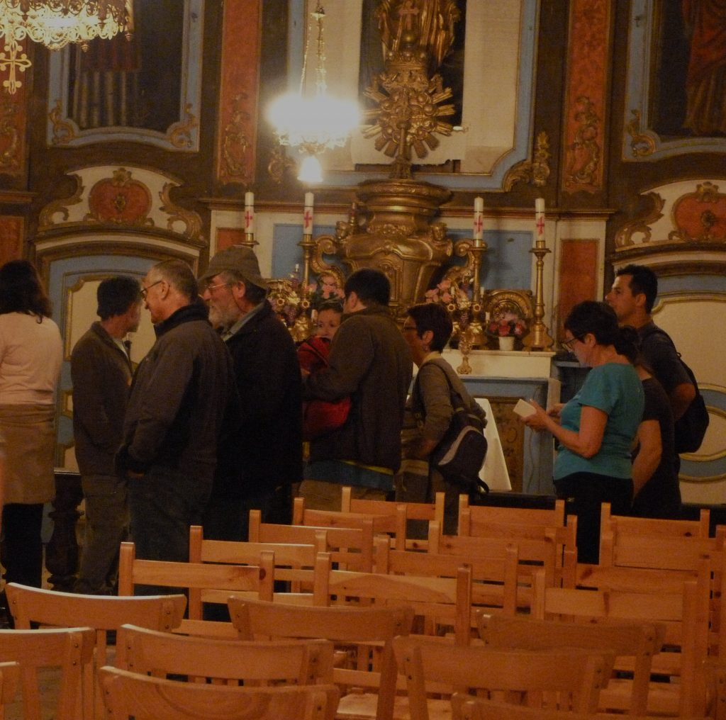 Randonnée nocturne - Visite de l'église de Cougournac (02-07-2016)
