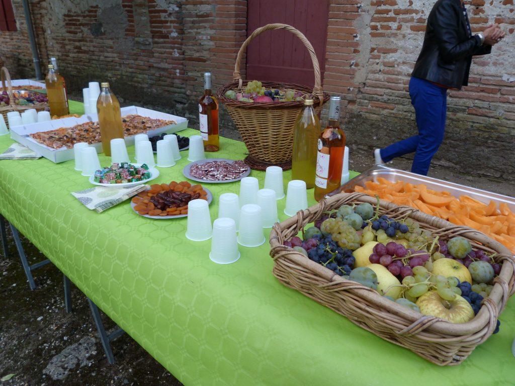 Buffet de produits locaux