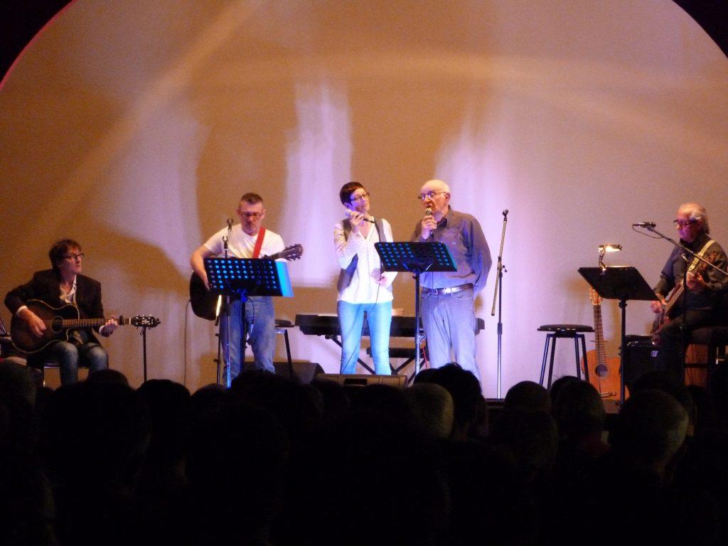 Une soirée sous le signe de la chanson française animée par Nathalie Delbreil, Jacques Roset, Fabrice Belloc, Jean-Pierre Belrepayre et Patrick Bernard