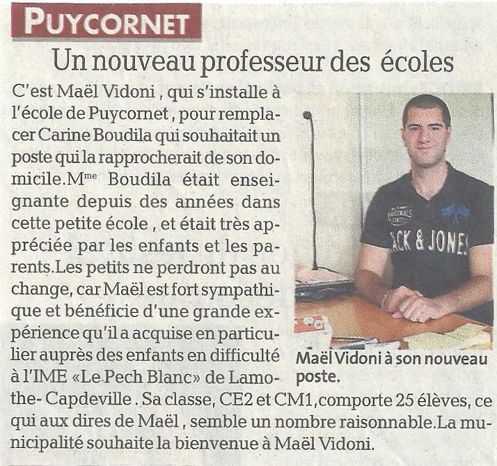 Bienvenu Mr Vidoni