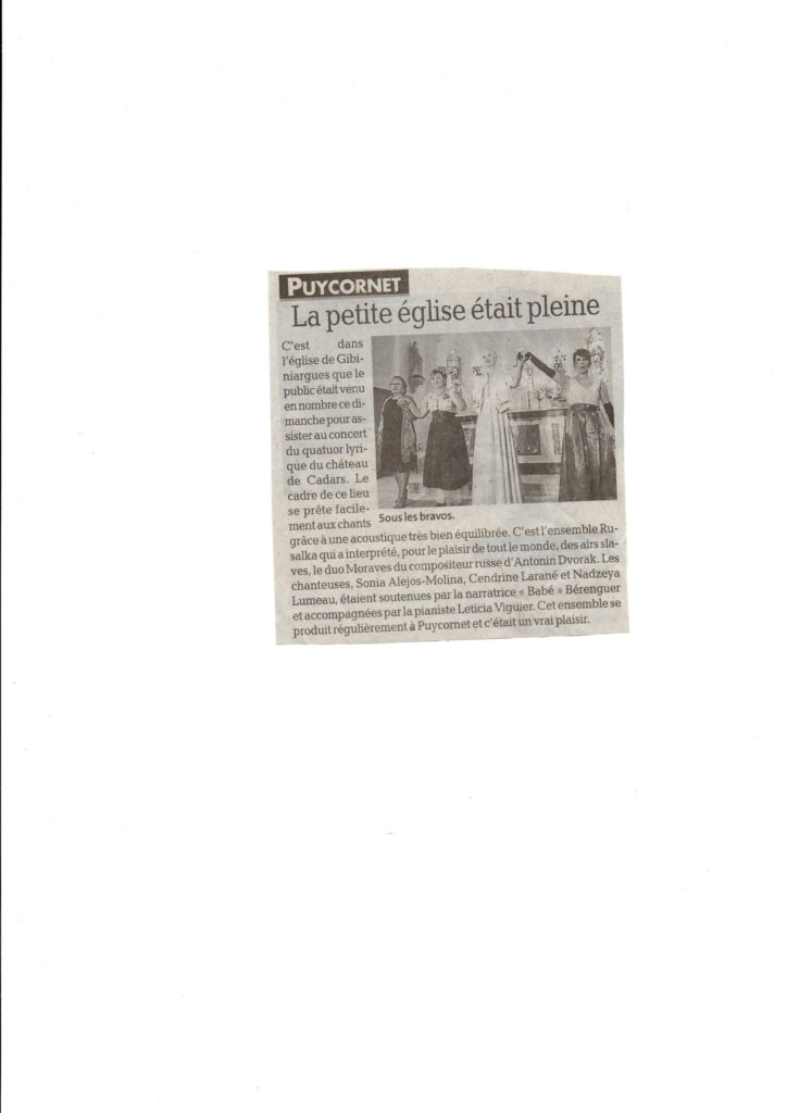 article concert lyrique