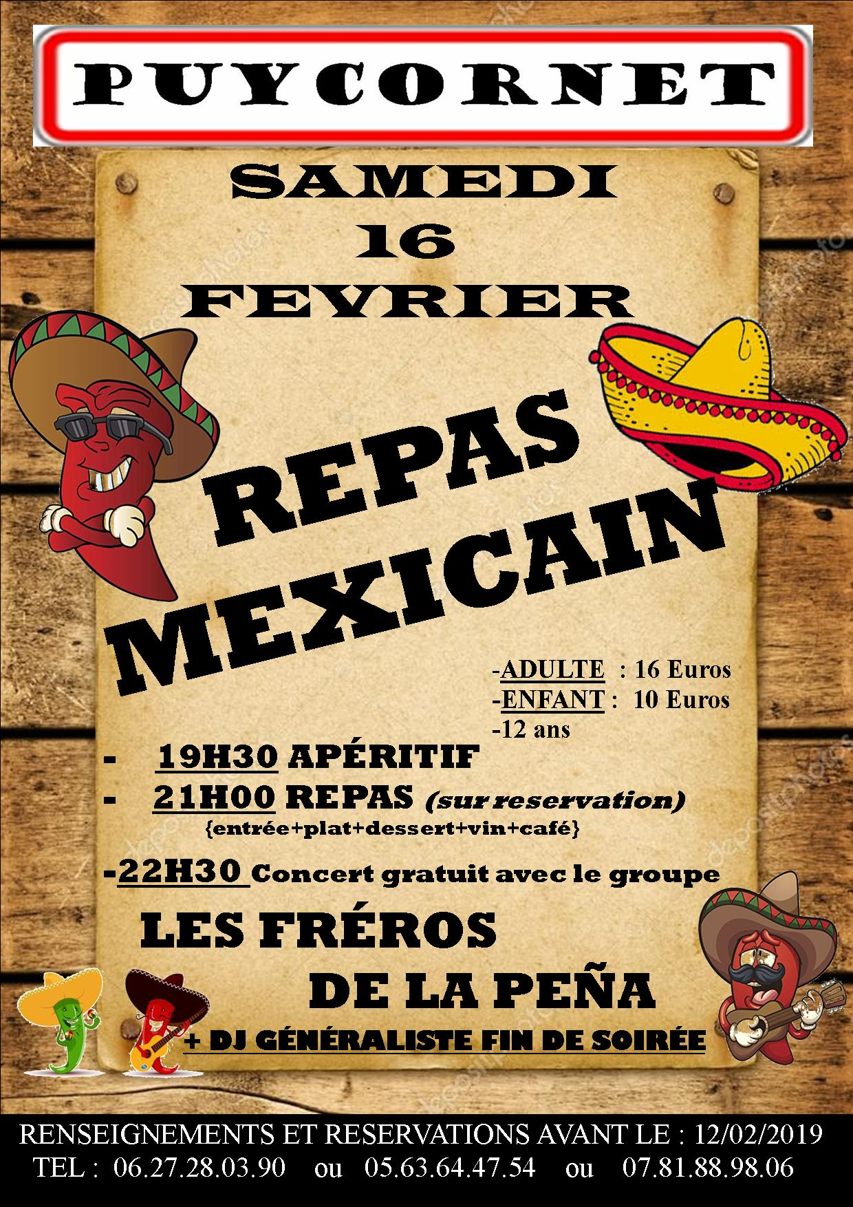 repas mexicain 2019