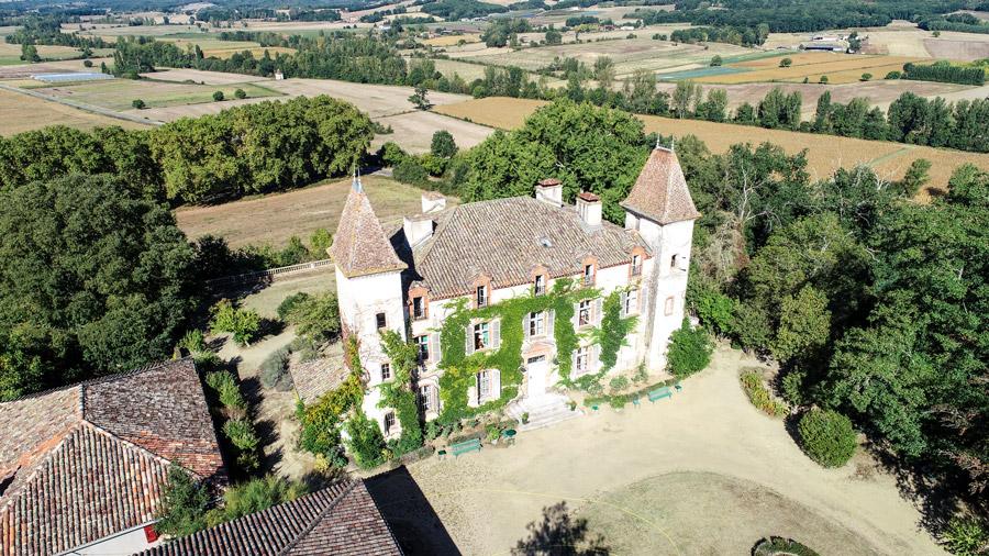 Vue du château de L'isle et de la vallée du Lemboulas